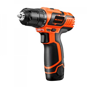 "50.0% off Meagle 12V Lithium-Ion Cordless Drill Driver - 3/8"" Metal Chuck - 2-Speed Max Torque 160.."