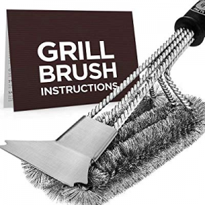 "ANCREU BBQ Grill Cleaning Brush with Scraper now 60.0% off , Safe 18"" Stainless Steel Woven Wire 3.."