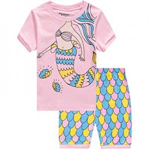 Little Girls Pajamas Baby Children Horse Pyjamas 100% Cotton Pink Toddler Sleepwear now 55.0% off