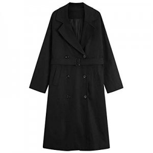 MOCRIS Trench Coats for Women now 70.0% off , Double-Breasted Mid-Length Overcoat Windbreaker with..