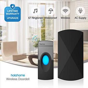 50.0% off Wireless Doorbell Door Bell Kit - Push Button & Plug-in Receiver Portable Waterproof Rem..