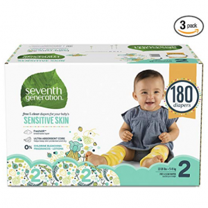 Seventh Generation 嬰幼兒尿不濕、濕巾、洗衣液等特賣 @ Amazon