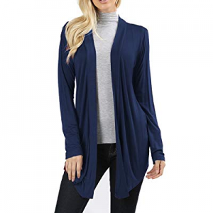 Womens Lightweight Cardigans Open Front Draped Long Sleeve Loose Cardigan Sweaters now 70.0% off