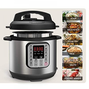 Acare 6 Qt 7-in-1 Programmable Pressure Cooker now 50.0% off ,6 Quart/6L Stainless Steel Multi-Use..
