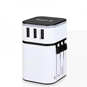5.0% off Universal Travel Adapter International Power Adapter European Plug Conventer Worldwide Al..