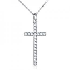 50.0% off 925 Sterling Silver Dainty Cross Pendant Necklace for Women Girls Christian Birthday Gra..