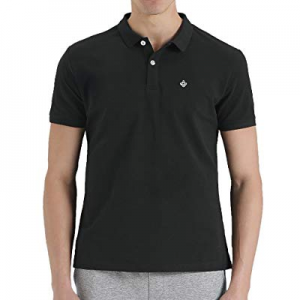 One Day Only!aoli ray Polo Shirts for Men, Solid Summer Slim Fit Golf Pique 100% Cotton Dress Shir..