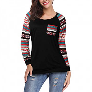 One Day Only!39.0% off KASCLINO Women's Crew Neck Long Raglan Sleeve Casual Lightweight Pullover S..