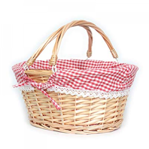 One Day Only!30.0% off MEIEM Wicker Basket Gift Baskets Empty Oval Willow Woven Picnic Basket East..