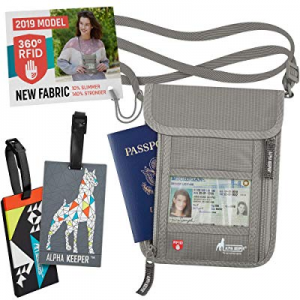 One Day Only!35.0% off Neck Wallet Hidden RFID Pouch Passport Holder for Women and Men Includes 2 ..
