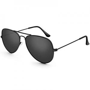 One Day Only!Livhò Sunglasses for Men Women Aviator Polarized Metal Mirror UV 400 Lens Protection ..