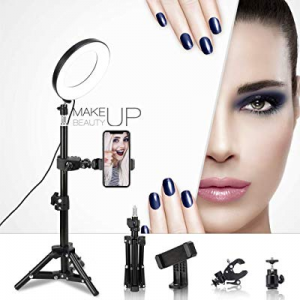 """One Day Only!LED Ring Light 6"""" with Tripod Stand for Live Streaming now 50.0% off ,YouTube Video a.."""
