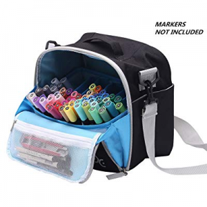 One Day Only!Large Storage Tote Bag for Marker Pens Brush Pen Coloring Pencils Books Art and Craft..