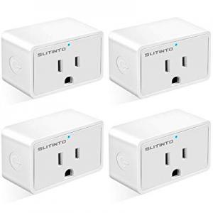 WiFi Smart Plug Works with Alexa Echo/Google Home/IFTTT now 45.0% off , slitinto Mini Smart Socket..