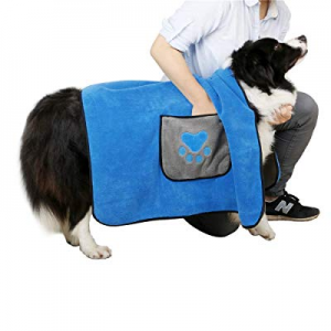 DADYPET Dog Drying Towel now 60.0% off , Pet Blanket, 4 in 1 Pet Bed Cover, Two-Sided Microfiber p..