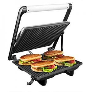 Panini Press Grill Electric Sandwich Maker Nonstick Panini Maker Fast Heating Easy Operate with ..
