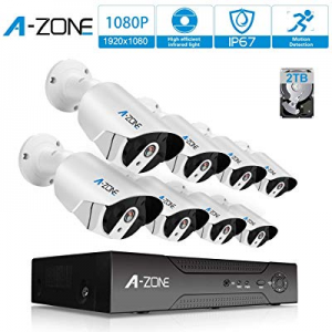 Security Camera System PoE - A-ZONE 8CH 1080P Bullet IP PoE System now 30.0% off , 8 Outdoor/Indoo..