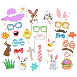 Photo Props now 35.0% off ,Easter Event Decorations Bunny Colorful Egg Birthday Photographing Dres..