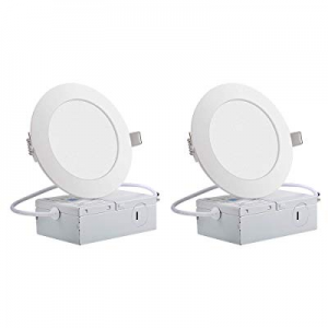 """One Day Only!ECOWHO Ultra-Thin Recessed Ceiling Lights now 55.0% off , 6"""" Dimmable Round LED Panel.."""
