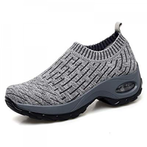 Women's Slip on Walking Shoes - Mesh Breathable Air Cushion Work Nursing Shoes Easy Casual Sneaker..