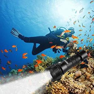 AIRSSON Diving Flashlight 800 Lumen IPX8 Waterproof 200M Illumination Range XM-L2 Led Diving Light..