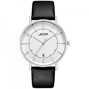 30.0% off JEDIR Men's Watches Black Analogue Quartz Watch for Men Classic Minimalist Stylish Desig..