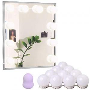 25.0% off LED Vanity Lights Mirror Kits & Makeup Sponges Hollywood Makeup Lights for Mirror 10 Dim..