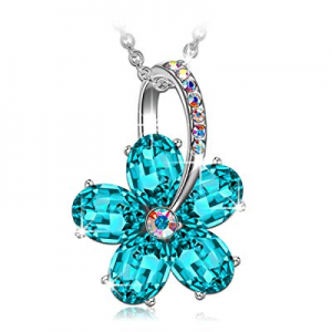 SIVERY 'Dream Flower' Pendant Women Necklace with Swarovski Crystal now 80.0% off , Jewelry for Wo..