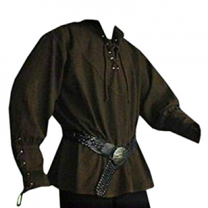 One Day Only!15.0% off Lynwitkui Mens Medieval Costumes Pirate Shirt Cosplay Long Sleeve Lace Up V..