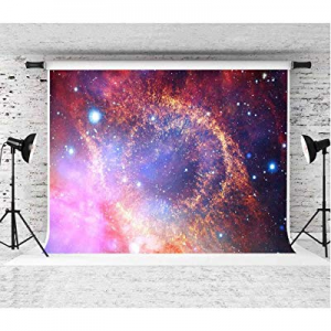 51.0% off EARVO 7x5Ft Colorful Starry Galaxy for Themed Party YouTube Shining Stars Photography Ba..