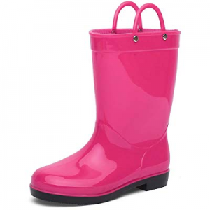 CIOR Toddler Rain Boots Girls Boys Durable PVC Rubber Kids Waterproof Shoes now 50.0% off