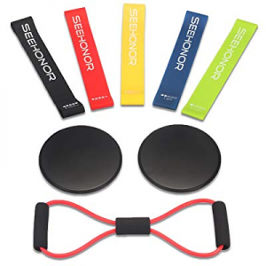 SEEHONOR Resistance Bands Set now 48.0% off , Upgraded Workout Bands Include 5 Stackable Exercise ..