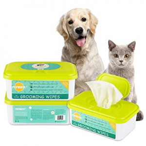 PUPMATE Pet Wipes for Dogs & Cats now 20.0% off , Extra Moist & Thick Grooming Puppy Wipes with 10..