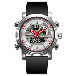 One Day Only!40.0% off TXFAITH Creative Original Design Business Digital Watch for Men Sports Watc..