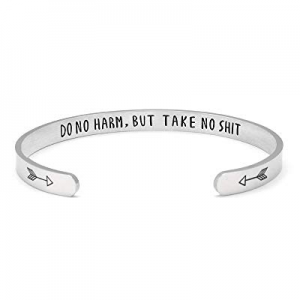 One Day Only!Fesciory Inspirational Bracelets for Women now 50.0% off ,Stainless Steel Engraved Pe..