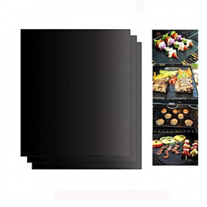 One Day Only!Uiizic BBQ Grill Mat Set of 3 now 50.0% off , 100% Non-Stick Grill Mats - Reusable Gr..