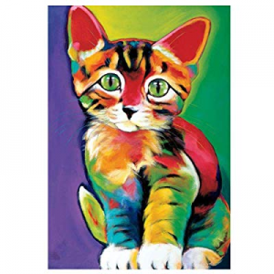 One Day Only!Cat Diamond Painting Full Drill DIY 5D Diamond Embroidery Kits for Adults and Kids 15..