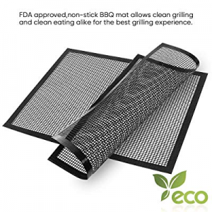 One Day Only!AIRSSON Non-Stick Grid Barbecue mat now 75.0% off ,BBQ Grill Meshes,Easy-Clean&Reusab..