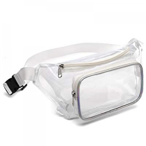 One Day Only!Fanny Pack now 45.0% off , Veckle Clear Fanny Pack Waterproof Cute Waist Bag NFL Stad..