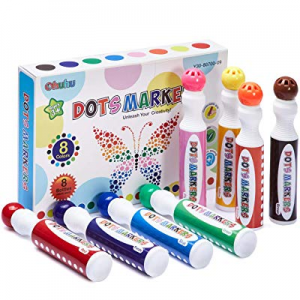One Day Only!Dot Markers Kit now 15.0% off , Ohuhu 8 Colors Paint Marker with a Blank 30 Pages Mar..