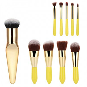 One Day Only!9 Pieces Mini Makeup Brush Set + 1 Premium Blush Brush now 60.0% off , YaFex Face Pow..
