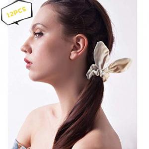 Velvet Scrunchies for Hair now 40.0% off , 12 Pcs Bunny Scrunchies Assorted Colors Velvet Hair Tie..