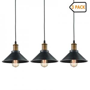 40.0% off Dazhuan Ceiling Light 3-Lights Pendant Metal Hanging Kitchen Farmhouse Industrial Lighti..