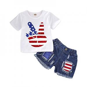 15.0% off GRNSHTS Baby Boys 4th of July Shorts Set American Flag Star Vest Hoodie + Striped Shorts..