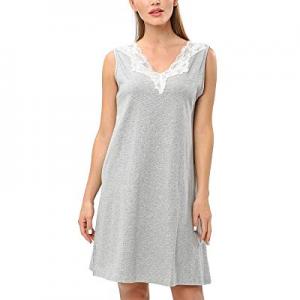 BELLEZIVA Women's T-Shirt Cotton Nightgown Sleep Dress Shirts Sleepwear now 70.0% off