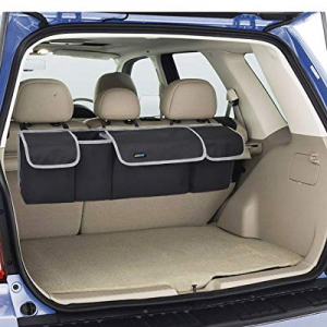 Backseat Trunk Organizer, Hanging Seat Back SUV Storage Organizer with Large Pockets, Black now 10..