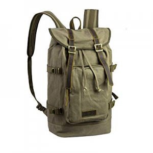 Taikesi Hiking Daypacks, Outdoor Camping Rucksacks Leather Canvas Backpacks for Different Age now ..