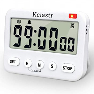 Large Display Digital Kitchen Timer now 15.0% off ,Countdown up Cooking Timer,24-Hour Clock & Alar..