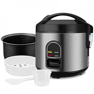 Mini Rice Cooker Steamer now 30.0% off , Small 5-cup Uncooked Rice Cooker Food Steamer with Remova..