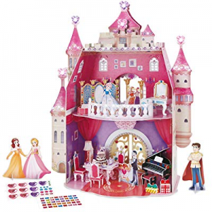 One Day Only!CubicFun 3D Princess Puzzle Dollhouse Crystal for Girls and Adult, Princess Birthday ..